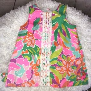 Lilly Pulitzer Pink Flamingo Dress Size 18-24 M